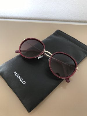 Violete by Mango runde Sonnenbrille mit rotem Rahmen - NEU und ungetragen!