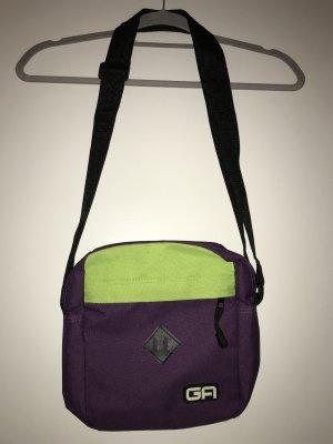 Violett/ Hellgrüne Umhängetasche