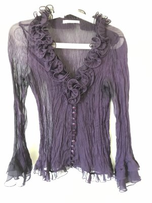 Violette, durchsichtige Bluse, Crash, mit Rüschen, Toi et Moi, 34/36, XS/ S