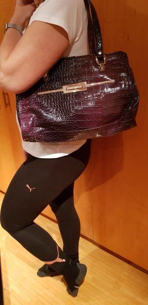 violette Handtasche in Lederoptik von Benetton