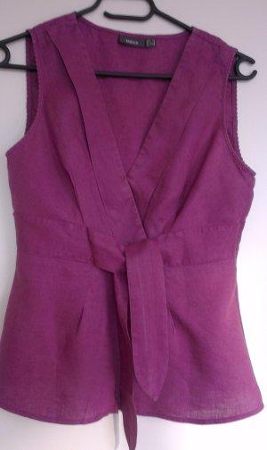 Violette Leinenbluse von MEXX in Gr.34