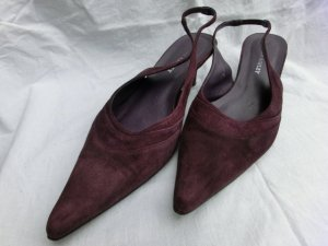 Violette, spitze Slingpumps v. Laura Ashley, Wildleder,Gr. 39, 6 cm -gebraucht-