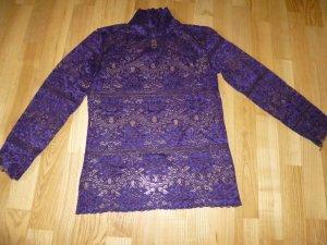 Violette Spitzenbluse von Piu & Piu