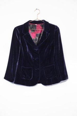 violetter Samt-Blazer, 18% Seide / Boden