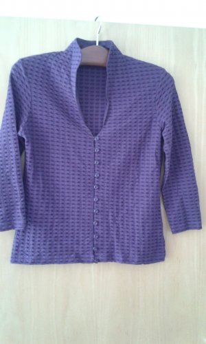 Crochet Shirt blue violet mixture fibre