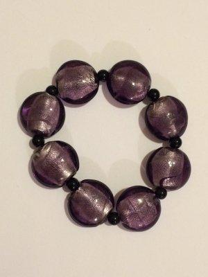 Violettes Armband elastisch