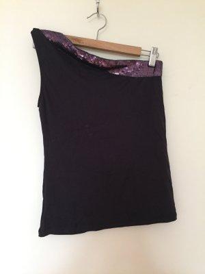 Violettes asymmetrisches Top von Zara