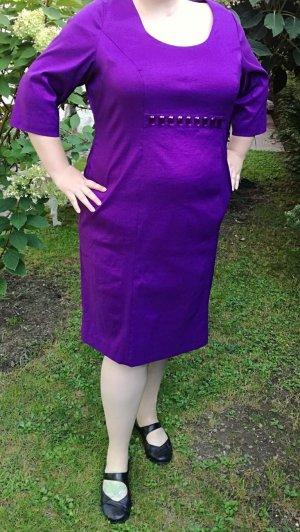 Violettes elegantes Etuikleid von Ulla Popken