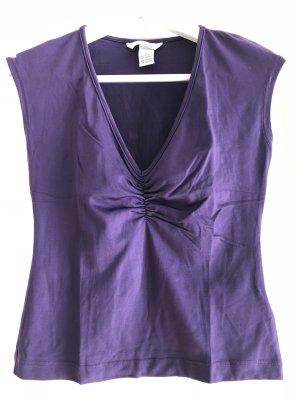 H&M V-Neck Shirt dark violet