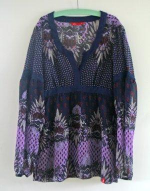 Violettfarbene Tunika Esprit Gr.S mit Paisleymuster