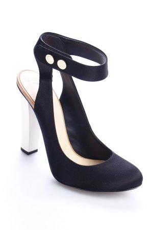 Vionnet Riemchenpumps schwarz-weiß Eleganz-Look