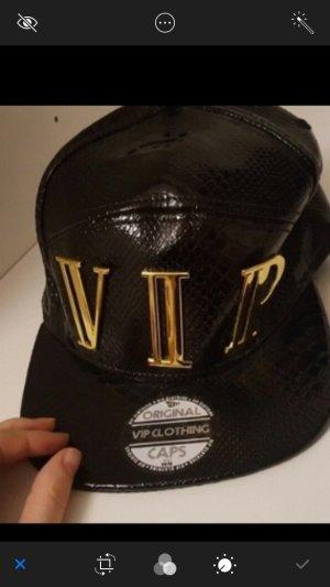 Gorra de béisbol negro-color oro