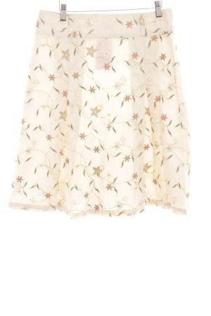 Virmani Falda acampanada beige claro-caqui estampado floral look casual