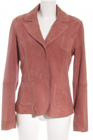 Virmani Leather Blazer russet business style