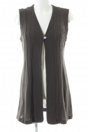 Virmani Long Knitted Vest brown casual look