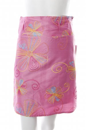 Virmani Minirock pink florales Muster Stickereiverzierung