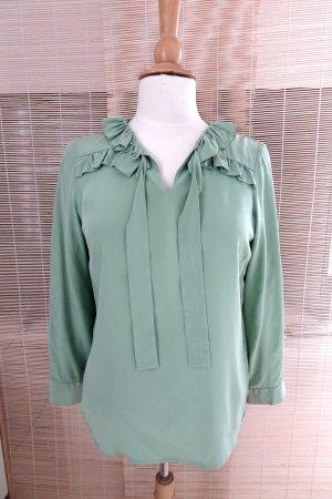 Blusa con lazo verde pálido Seda
