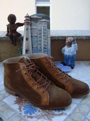 VIRUS BOOTS DESERT-BOOTS STIEFELETTEN ANTIK-STYLE BOHO BOHEME VINTAGE ECHTLEDER NP149€ neu 36/37