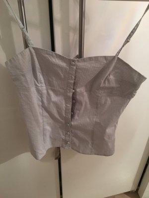 H&M Haut type corsage gris clair
