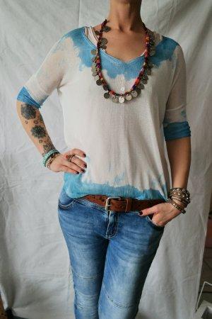 Viskose Batik Feinstrick Sommer Pulli