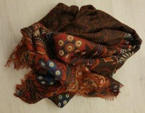 Viskose Schal   in braun, rot, grau, blau       NEU