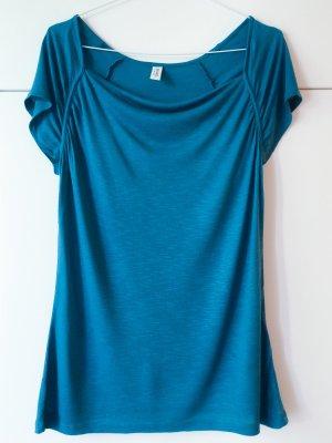 de.corp by Esprit Camisa con cuello caído petróleo-azul Viscosa