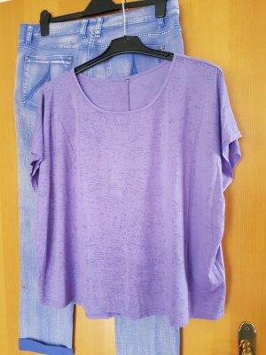 Viskose Shirt violett # Grösse D 40/D42