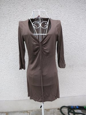 Mini-jurk groen-grijs Viscose