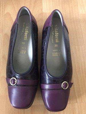 vitaform Patent Leather Ballerinas dark violet-lilac
