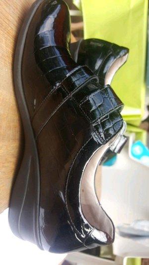 vitaform Zapatillas con velcro negro Cuero