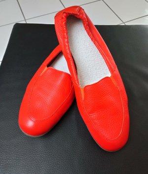 vitaform Pantoffels neonoranje-rood Leer