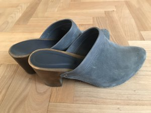 Vialis Clog Sandals slate-gray-brown leather
