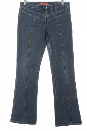 Vitamina Jeans bootcut bleu foncé moucheté style décontracté