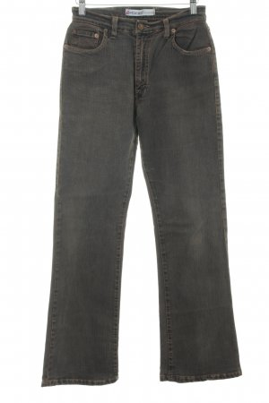 Vitamina Boot Cut Jeans graubraun meliert Casual-Look