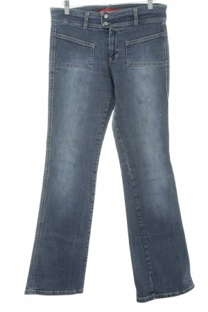 Vitamina Boot Cut Jeans stahlblau Casual-Look