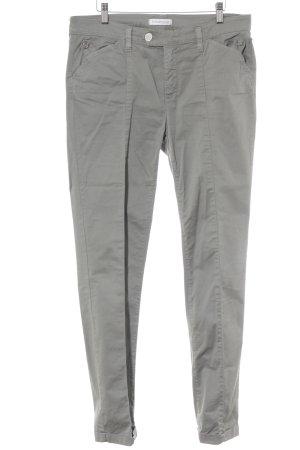 Vitamina Pantalon à pinces gris vert style décontracté