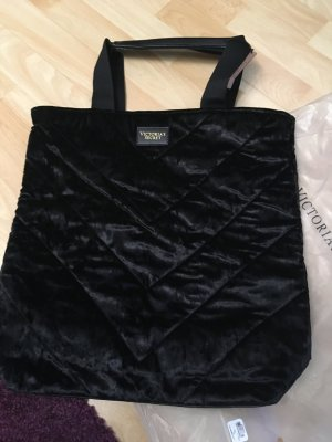 Vitoria's Secret Black Velvet Tote Bag Handtasche schwarz Samt VS