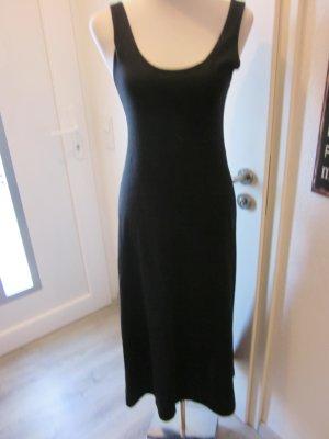 Vitoria Verani Feinstrickkleid Maxi Kleid schwarz Gr 38