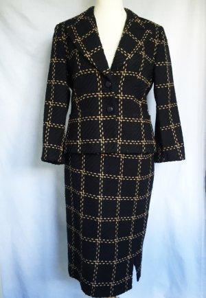 Vittoria Verani Kostüm Gr.42 Wollkostüm True Vintage Business Anzug Blazer Rock
