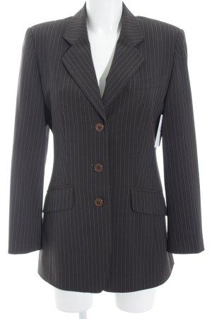 Vittoria Verani Blazer de esmoquin marrón grisáceo-azul raya diplomática
