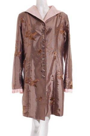 Viva la Diva Gehrock bronzefarben-hellrosa florales Muster Elegant