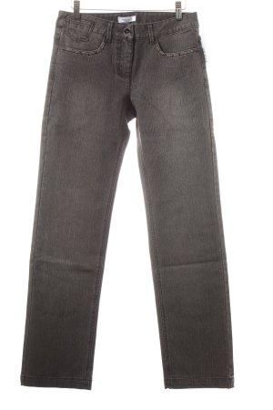 Vivance Straight-Leg Jeans schwarz Nietenelemente
