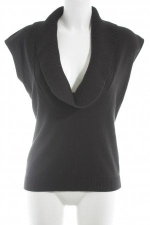 Vivance Top collo ad anello nero stile casual