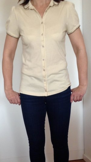 Vive Maria Short Sleeved Blouse natural white cotton