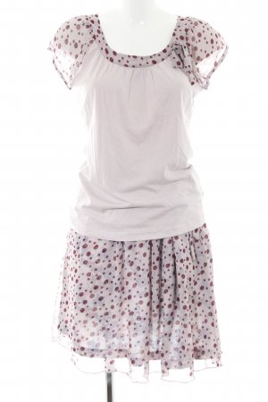 Vive Maria Twin Set tipo suéter light grey-red spot pattern casual look