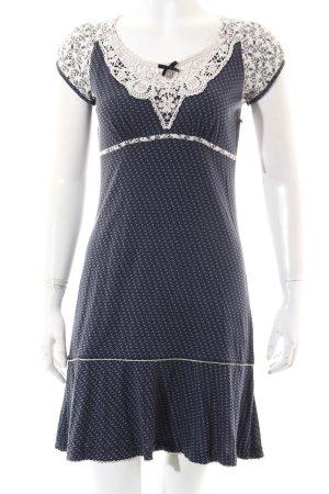 Vive Maria Kleid blau-wollweiß abstraktes Muster Casual-Look