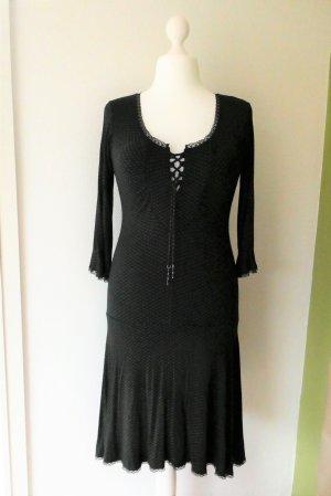 *Vive Maria* Kleid Schwarz Spitze Sternchen Gr. L