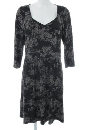 Vive Maria Langarmkleid schwarz-graubraun Farbtupfermuster Elegant
