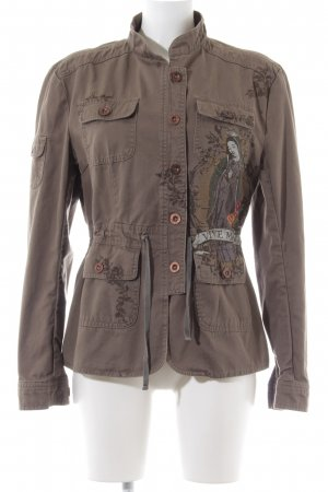 Vive Maria Military Jacket brown themed print street-fashion look