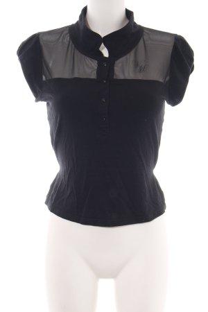 Vive Maria Netshirt zwart casual uitstraling